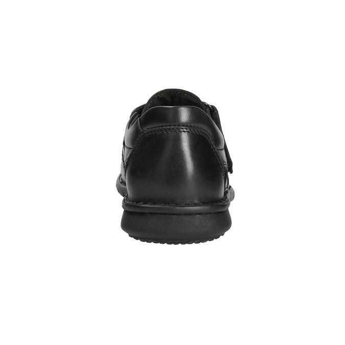 Men's black leather sandals bata, black , 864-6600 - 15