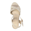Ladies' sandals with a massive heel bata, beige , 769-8602 - 19