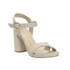 Ladies' sandals with a massive heel bata, beige , 769-8602 - 13