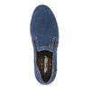 Brushed leather Slip-ons weinbrenner, blue , 833-9601 - 17
