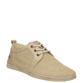 Casual leather shoes weinbrenner, beige , 523-2475 - 13