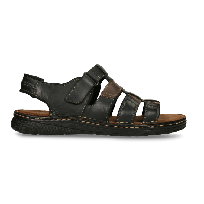 Men's leather sandals, brown , 866-4610 - 19