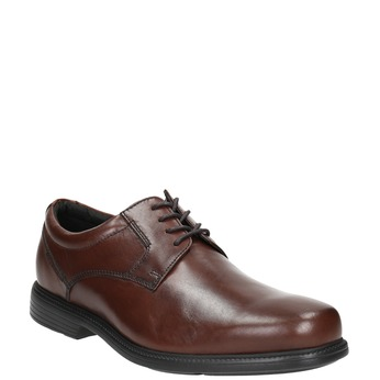 Brown leather Derby shoes rockport, brown , 824-4127 - 13