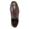 Brown leather Derby shoes rockport, brown , 824-4127 - 19