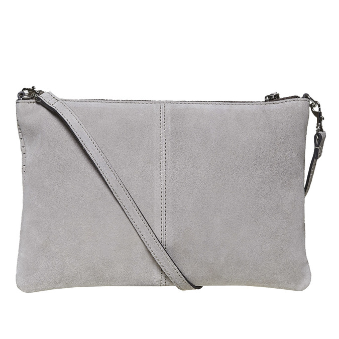 Leather crossbody handbag bata, gray , 963-2135 - 26