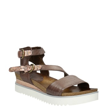 Ladies' sandals with a distinctive sole bata, brown , 666-4604 - 13