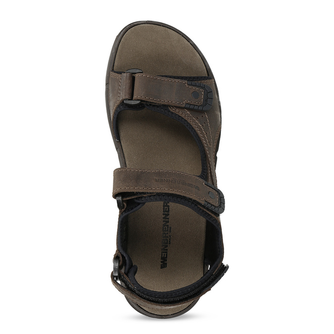 Leather sandals with Velcro fasteners, 866-4631 - 17