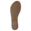 Brown leather sandals bata, brown , 566-4613 - 26