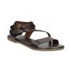 Brown leather sandals bata, brown , 566-4613 - 13