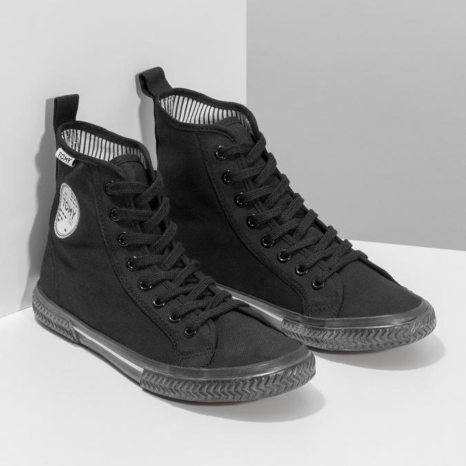Black ankle sneakers tomy-takkies, black , 589-6173 - 26