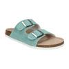 Blue leather sandals de-fonseca, turquoise, 573-7621 - 13