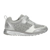 Girl's silver sneakers with small rhinestones mini-b, gray , 329-2295 - 15