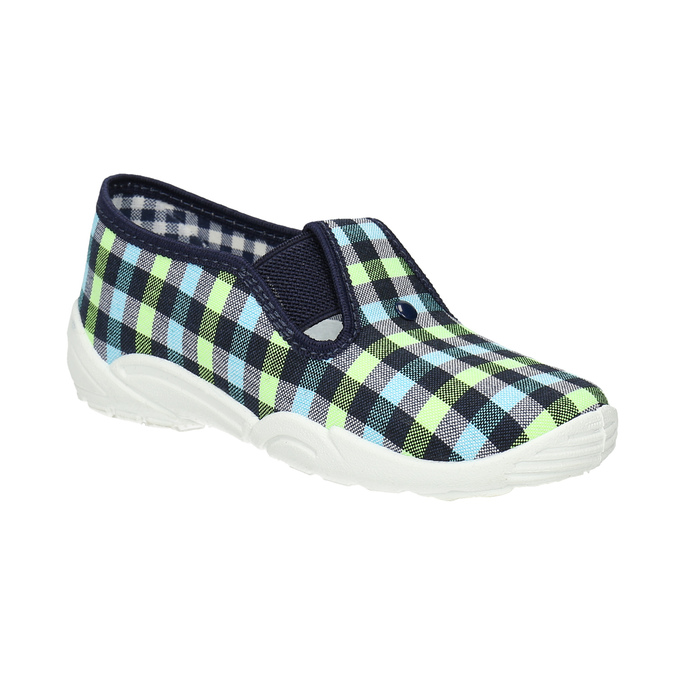 Kids' slippers mini-b, blue , multicolor, 379-0213 - 13