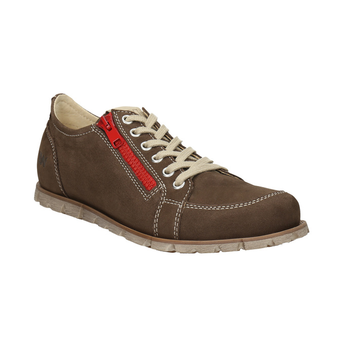 Ladies' leather sneakers weinbrenner, brown , 546-4604 - 13