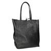 Leather handbag v Shopper style, black , 964-6122 - 13
