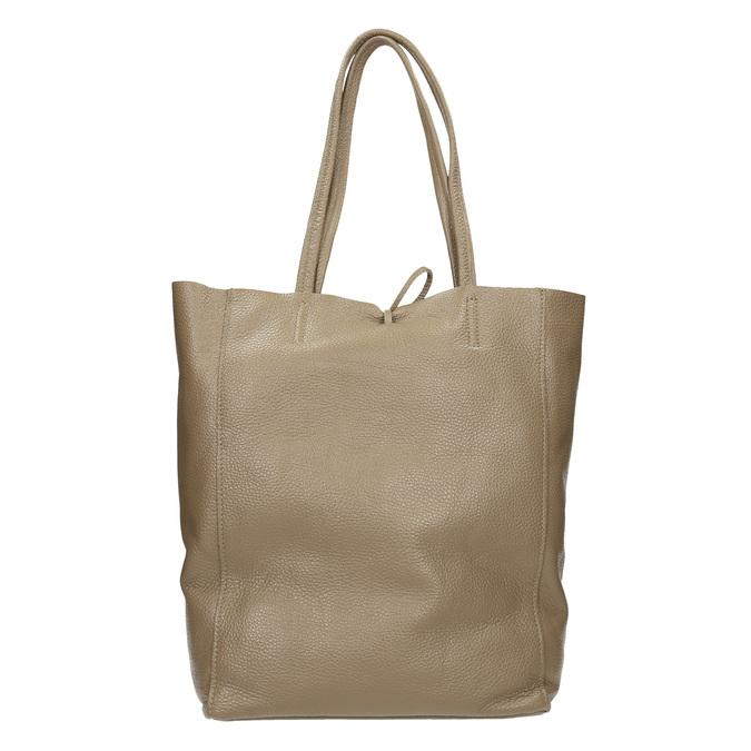 Ladies' leather handbag with bow bata, beige , 964-2122 - 16