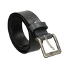 Black leather belt bata, black , 954-6192 - 13