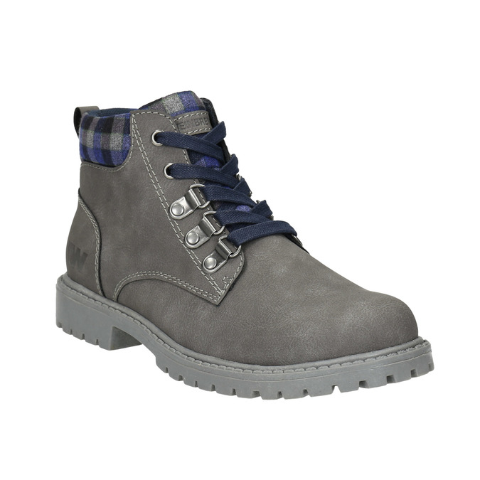 Children's winter ankle boots weinbrenner-junior, gray , 411-2607 - 13