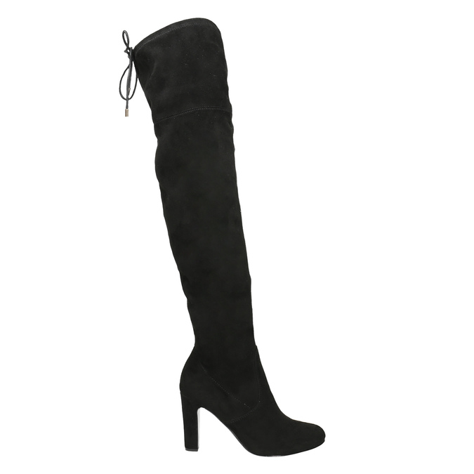 Over-knee high boots with heels insolia, black , 799-6618 - 15
