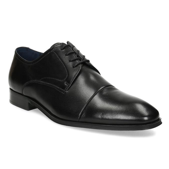 Men's leather Derby shoes, black , 824-6406 - 13