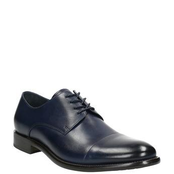 Men's leather Derby shoes bata, blue , 826-9682 - 13