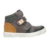 Leather high-top sneakers mini-b, brown , 214-4203 - 26