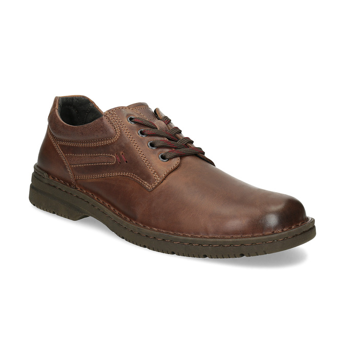 Brown leather shoes bata, brown , 826-4918 - 13