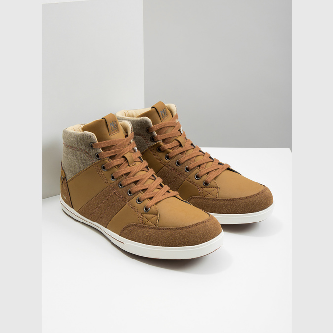 Men's high-top sneakers north-star, brown , 841-3608 - 18