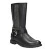 Girls' high boots with rhinestones mini-b, black , 391-6398 - 13