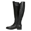 Ladies' Black Leather High Boots, black , 694-6164 - 15