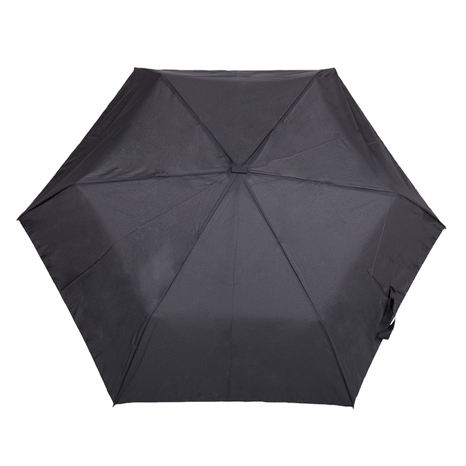 Black folding umbrella, black , 909-6659 - 26