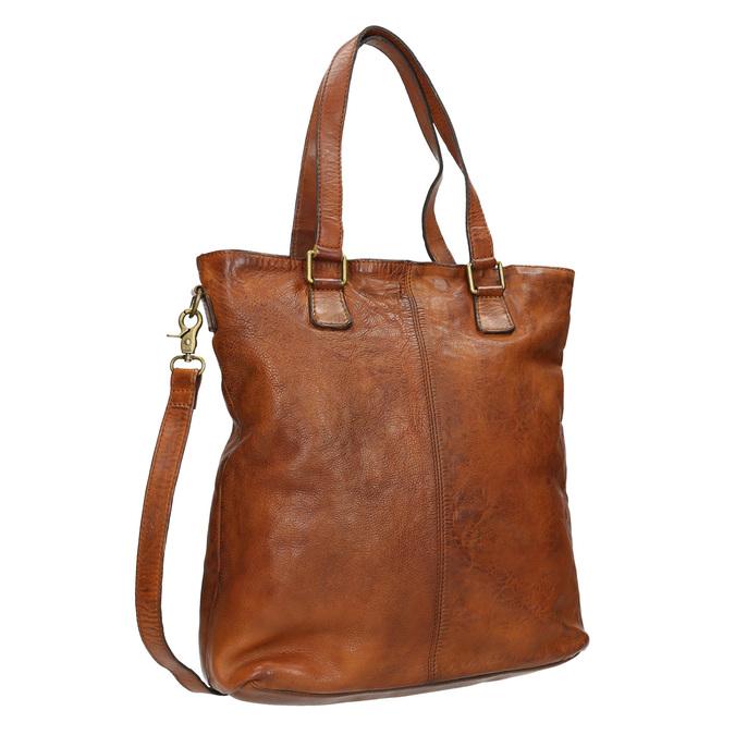 Ladies' Leather Handbag bata, brown , 964-3245 - 13
