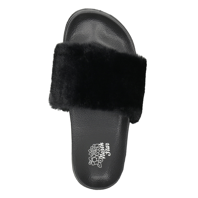 Ladies' black slippers north-star, black , 579-6624 - 15