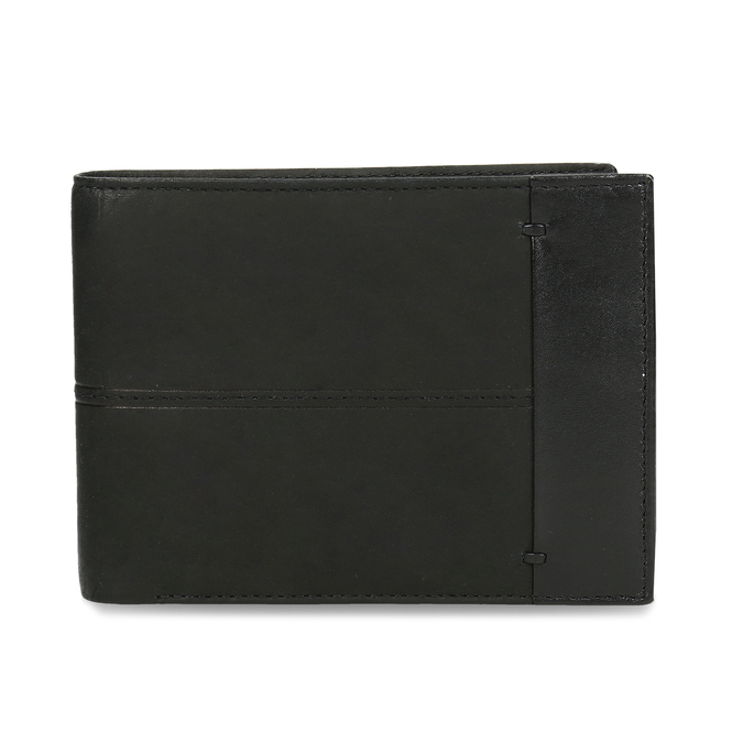 Men's leather wallet bata, black , 944-6188 - 26