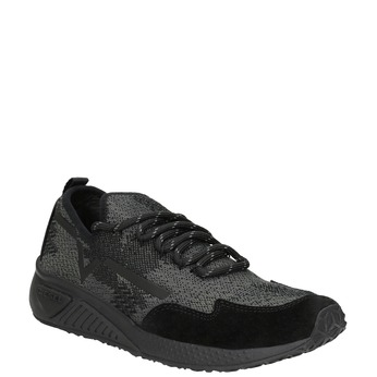 Ladies' sporty sneakers diesel, black , 509-6760 - 13