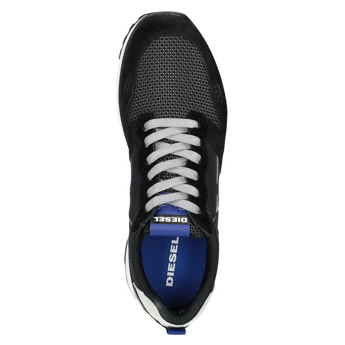 Men's casual sneakers diesel, black , 809-6638 - 15