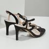 Ladies' party sandals with rhinestones bata, black , 729-6611 - 16