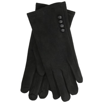 Ladies' textile gloves, black , 909-6612 - 13