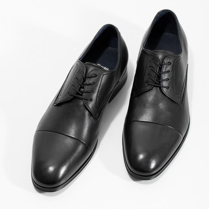 Men's leather Derby shoes, black , 824-6406 - 16