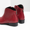 Red high ankle boots bata, red , 594-5665 - 18