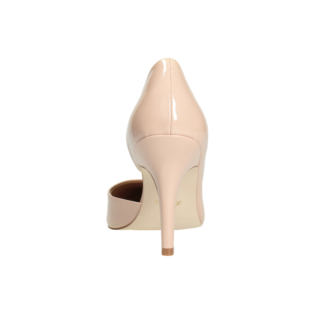 Patent pinkish cream-colored pumps insolia, beige , 721-5615 - 16