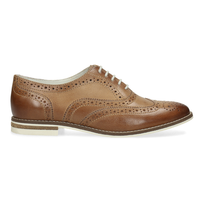 Ladies' leather shoes bata, brown , 526-3649 - 19