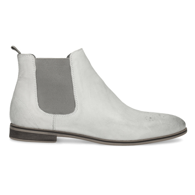 Ladies' Chelsea style boots bata, gray , 596-1684 - 19