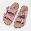 Ladies' leather sandals de-fonseca, pink , 573-5621 - 16