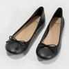 Leather ballerina shoes bata, black , 524-6144 - 16