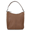 Brown leather handbag bata, brown , 964-3254 - 26