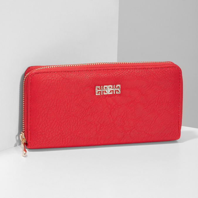 Red ladies' wallet bata, red , 941-5180 - 17