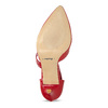 Leather pumps with T-strap bata, red , 724-5904 - 18